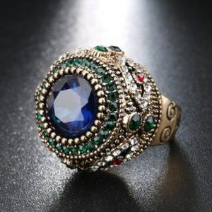 Bohemian Blue Antique Ring